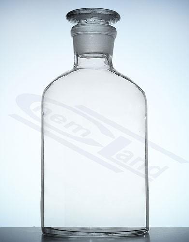 Butelis šviesaus stiklo su šlifu, stikliniu kamščiu