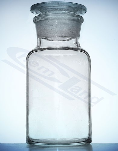Bottle with stopper clear wide neck
